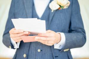 結婚式 ウエディング 手紙 新郎